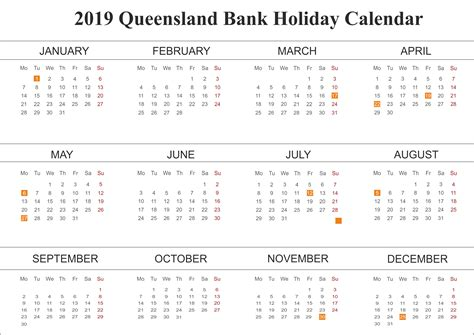 template bank holiday qld queensland
