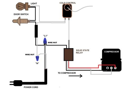 Appliance Cord Wiring Diagram by I M Replacing The Power Cord On My Vintage Refrigerator