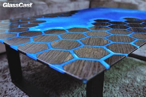 bog oak  epoxy resin honeycomb table glasscast resin