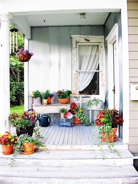 Shabby Chic Decorating Ideas For Porches Gardens Hgtv