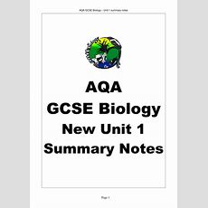 Aqa Gcse Biology Unit 1 Revision Notes By Bobfrazzle  Teaching Resources Tes
