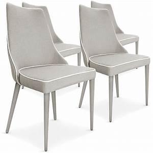 Chaise Tissu Beige : chaise drago tissu beige lot de 4 ~ Teatrodelosmanantiales.com Idées de Décoration