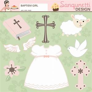 Girl Baptism Clipart