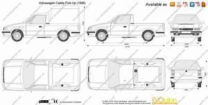 Dimension Volkswagen Up : volkswagen caddy pick up vector drawing ~ Medecine-chirurgie-esthetiques.com Avis de Voitures