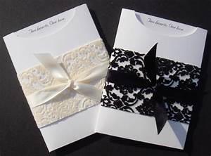 elegant wedding invitation diy kit christina pocket With diy wedding invitations pocket kit