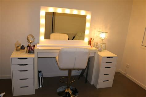 vanities for bedrooms with lights rogue hair extensions ikea makeup vanity amp hollywood lights 20060 | IMG 0068