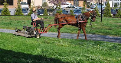 amish horse drawn lawn mower lancasterpacom