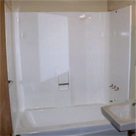 Glass Door For Fiberglass Shower by Installing A Frameless Shower Door In A Fiberglass Gray
