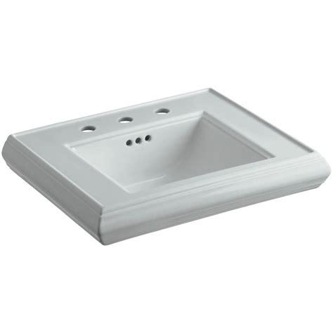 kohler tresham sink home depot kohler tresham 24 in fireclay pedestal sink basin in