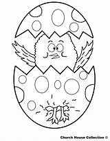 Easter Chick Egg Coloring Pages Templates Colour Labels Animals sketch template