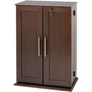 small deluxe media storage cabinet with locking shaker