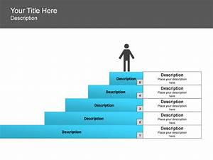 Powerpoint Slide - Step Up Process Diagram - Person
