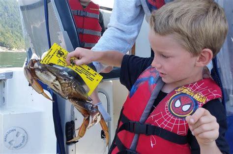 fishing shellfishing crabbing recreational several areas marine winter open