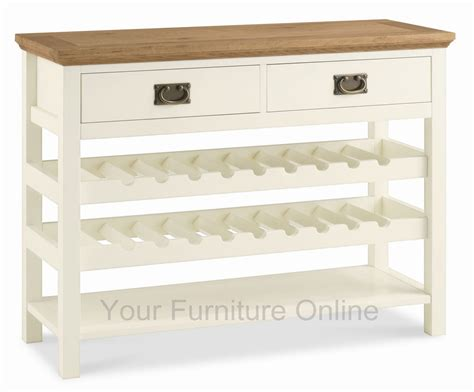 wine rack console table provence two tone console table with wine rack