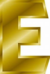 free gold letter e clipart free clipart graphics images With gold letter e