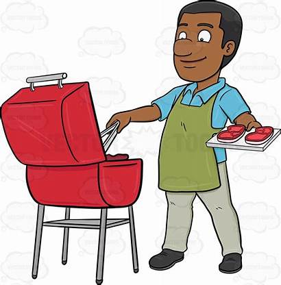 Grilling Clipart African American Cookout Transparent Cartoon