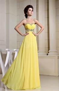 pale yellow modern a line sweetheart sleeveless chiffon With yellow wedding dresses bridesmaids