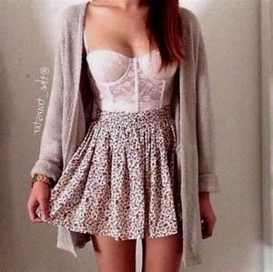 Floral Skirt Outfit Tumblr | www.pixshark.com - Images ...