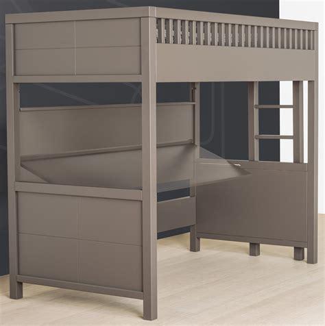 bureau rabatable lit mezzanine quarré avec bureau rabattable quax marques