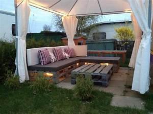 Salon De Jardin En Palette Moderne : salon de jardin en palette 21 id es d couvrir ~ Melissatoandfro.com Idées de Décoration