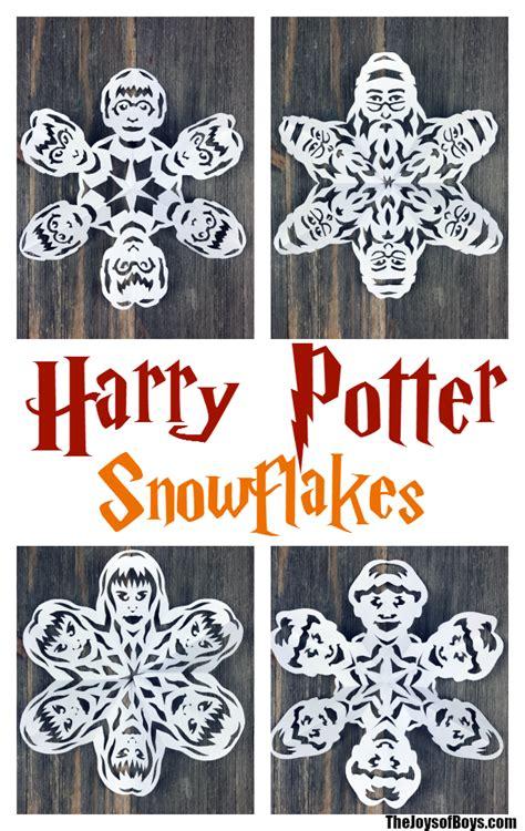 harry potter snowflakes links  templates  video
