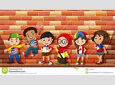Children From Different Countries Stock Vector Image