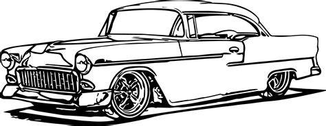 Printable Coloring Pages Classic Cars