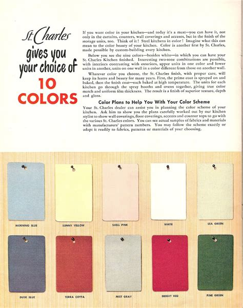 Retro Metal Kitchen Cabinets by St Charles Mid Century Modern Kitchen Cabinet Colors
