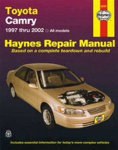 car repair manuals online pdf 1992 toyota camry electronic toll collection toyota camry 1997 2002 haynes service repair manual sagin workshop car manuals repair books