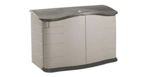rubbermaid garbage shed to hide trash recycling cans rubbermaid commercial