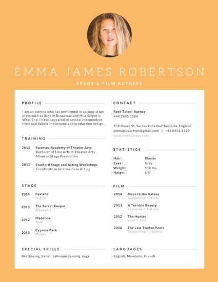 Canevas Cv by Professional Resume Templates Canva