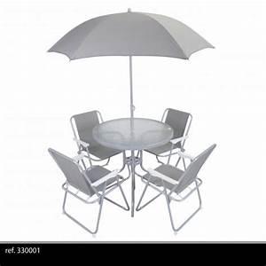 Salon De Jardin Pliant : salon de jardin 6 pi ces avec parasol ronde table de ~ Dailycaller-alerts.com Idées de Décoration