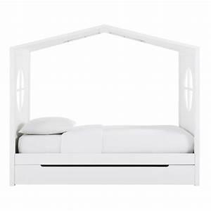 Lit Cabane 90x190 : lit cabane enfant 90x190 blanc maisons du monde ~ Teatrodelosmanantiales.com Idées de Décoration