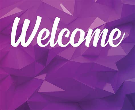 purple geometric banner church banners