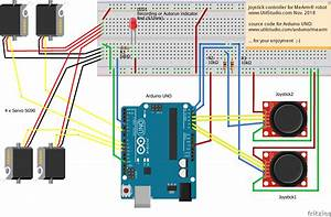 Arduino Uno Joystick Controller For Mearm U00ae Robot With
