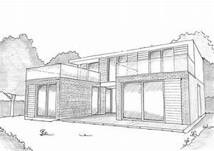 Plan Facade Maison : plan facade maison moderne ~ Melissatoandfro.com Idées de Décoration