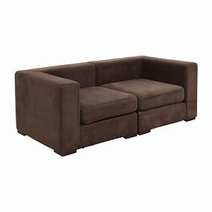59 off west elm west elm brown modular sofa sofas for West elm sectional sofa brown