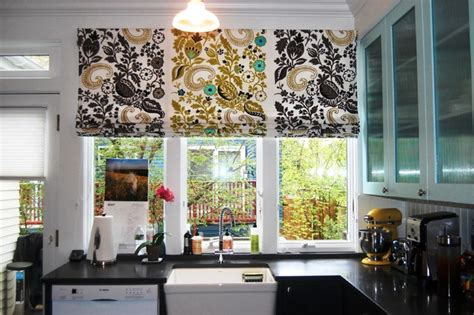 drapes and soft treatments contemporary kitchen
