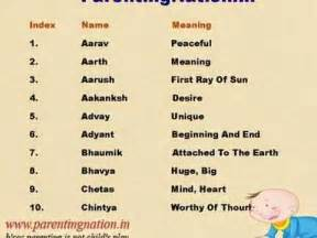 Unique Baby Boy Names Meanings
