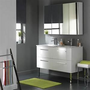 Les concepteurs artistiques meuble salle de bain blanc for Meuble salle de bain blanc laqué
