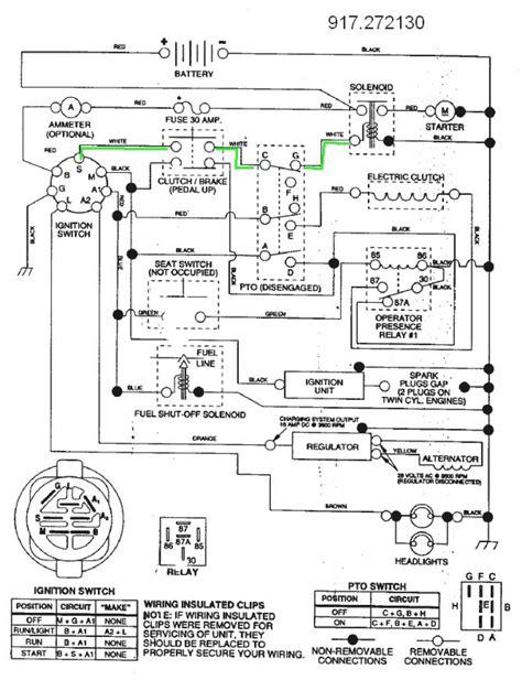 craftsman mower wireing diagram 38 wiring diagram