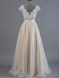 Cap sleeve lace wedding dress with tulle skirts 4006 for Wedding dress tulle skirt