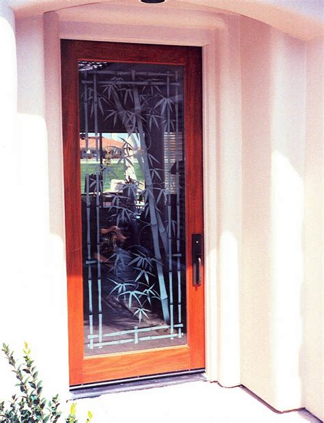entry door with window bamboo entry door glass inserts sans soucie