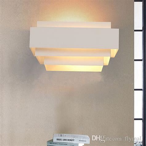 2017 contemporary indoor up wall light curved white