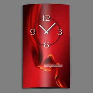 Moderne Wanduhren Design : abstrakt seide rot hochkant designer wanduhr modernes wanduhren design leise kei ~ Markanthonyermac.com Haus und Dekorationen