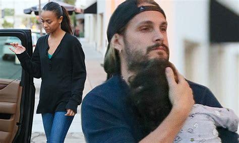 Zoe Saldana and husband Marco Perego treat their twins to ...