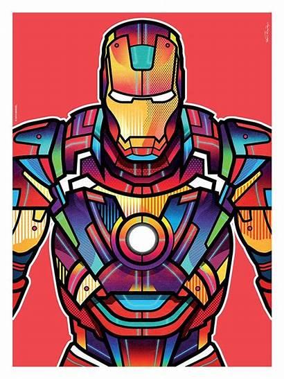 Marvel Avengers Orton Superhero Iron Colorful Hero