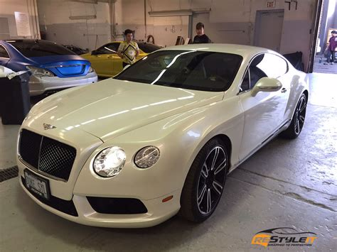 white bentley pearl white bentley continental gt vehicle customization