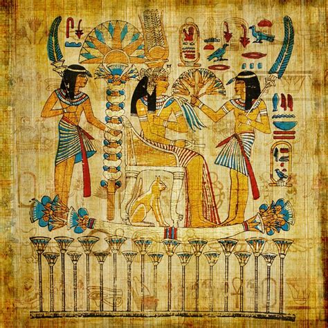 egyptian parchment wall mural pixers