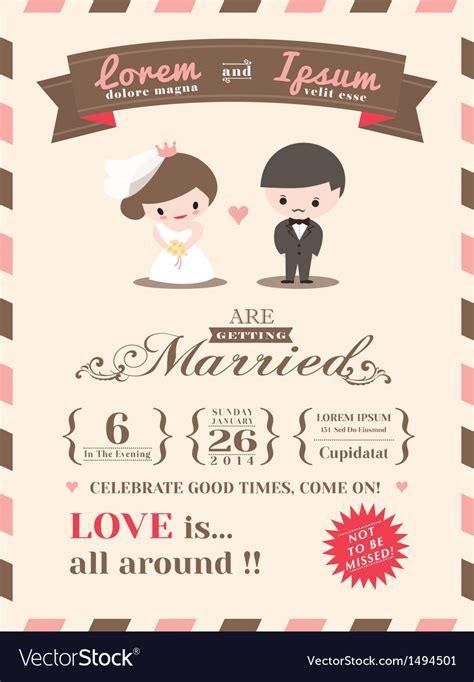 wedding invitation card template royalty free vector image